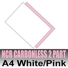 50 sets x A4 Carbonless NCR Duplicate Print Paper White & Pink
