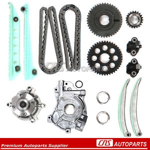 For 00-03 FORD Timing Chain Kit GMB Water Pump Oil Pump 4.6 SOHC DOHC V8 MUSTANG