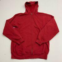 Carhartt Full Zip Hoodie Mens Medium Red Long Sleeve Casual Workwear