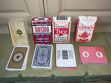 Lot (4) Vintage Gemaco , Astor , Ruxton, Bee Playing Cards - Made in the Usa