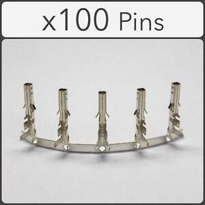 x100 Female ATX / EPS PCI-e PC Power Supply Connector Crimp Pins 5557 High Foot