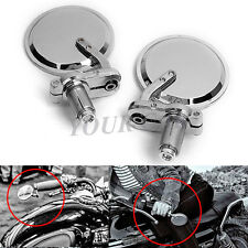 "MOTORCYCLE 7/8"" HANDLEBAR CHROME BAR END MIRRORS FOR HONDA  CBR 250 600 1000"