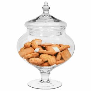 B-Ware Glas Bonboniere mit Deckel Keks Vorrats Dose Behälter Gefäß Snackschale