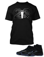 "Tee Shirt to Match  Air Jordan 11 ""Cap And Gown"" Mens Graphic Big Tall Small T"
