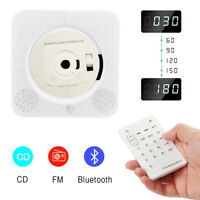 CD Player Wall Mounted Bluetooth Audio LED USB FM Remote Control Hifi Speaker