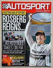 Autosport magazine 20th March 2014
