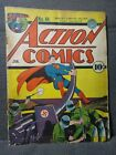 Action Comics 44   1/42   WWII Nazi cover by Fred Ray Hitler   G-