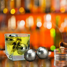 Stainless Steel Ice Cubes Reusable Metal Chilling Stones with Whisky Keep Cold