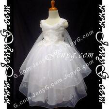 Vêtements blancs en polyester pour fille de 6 à 7 ans