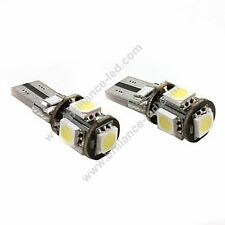 10x VEILLEUSES LED T10 W5W CANBUS SMD 5050 Blanc Pur - T10 ANTI-ERREUR Pur White