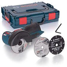 Bosch Winkelschleifer GWS 10,8-76 V-EC Solo in L-Boxx + 3x Trennscheiben