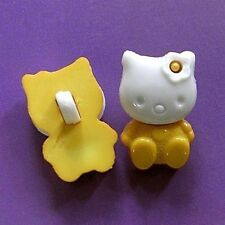 15 Kitty Cat Pet Novelty Kid DIY Bigs Craft Sewing Buttons Yellow K723