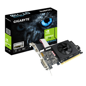Gigabyte NVIDIA GeForce GT710 2GB DDR5 GV-N710D5-2GIL PCI-E Video Card HDMI DVI