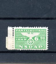 WWII German NSDAP Officials Postage Stamp 6,90RM large EMBOSSED EAGLE