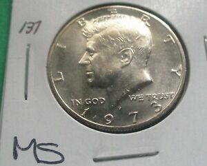 1973-D KENNEDY HALF DOLLAR. MS CONDITION, FROM A MINT SET. HIGH GRADE.  (137).