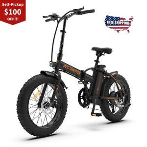 NEW OFFER A20 Electric Bike 500W Foldable Ebike Fat Tire 36V 13Ah Battery