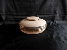 applique en verre rose granité à liseré doré pour lampe,lustre
