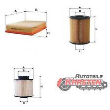 Set M: Ölfilter+Luftfilter+Kraftstofffilter Filterset CHEVROLET OPEL
