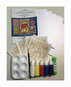 Silkcraft™ Silk Painting: Cardmaking kit- Poison Garden- Makes 5 beautiful Cards