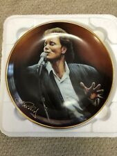 CLIFF RICHARD - FORTY GLORIOUS YEARS DANBURY PLATE & FROM A DISTANCE TOUR MUG.