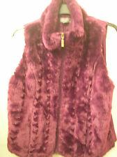 Sunzannegrae striking gilet jacket size purple fur front & suede feel back