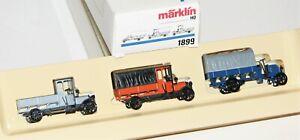 """Märklin H0 1899 Wagen-Set """"Oldtimer LKW"""" OVP AS20116"""