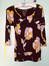Marks and Spencer Women's Floral 3/4 Sleeve Sleeve Waist Length Tops & Shirts