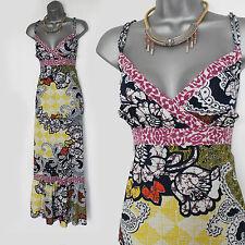 Dietro le quinte Astratto Stampa Floreale Estate/Spiaggia cinghie intero Maxi Dress M