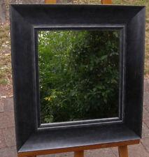 Decorative Wall Mirror Art Deco Style Aged Black Wood Frame 62cm x 58cm