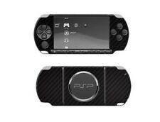 Skinomi Carbon Fiber Film Skin Black Body + Screen Protector for Sony PSP 3000