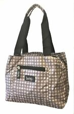 "Nicole Miller of New York 11"" Insulated Lunch Cooler Bag - Grey Houndstooth"