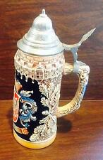 ORIGINAL KING FRANKFURT BEER STEIN HAND MADE HAND PAINTED