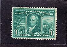 US 323 1c Louisiana Purchase Mint XF OG NH SCV $65