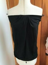warehouse black jersey drape bandeau top uk 10 bnwt definitives