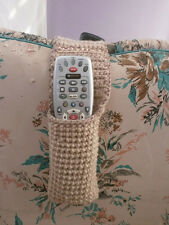 REMOTE CONTROL HOLDER (HOLDS TWO) NEUTRAL TAN -HAND CROCHET