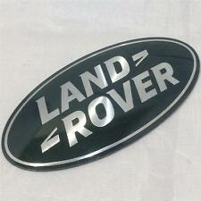 NEW GENUINE LAND ROVER DEFENDER SUPERCHARGED GRILL BADGE OVAL GREEN-SILVER