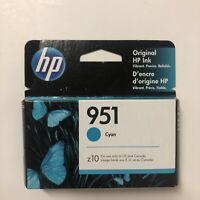 HP 951 CN050AN  Cyan Ink Cartridge EXP 2021 NEW SEALED.