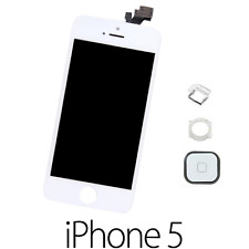 IPHONE 5 LCD SCHERMO DISPLAY RETINA TOUCH SCREEN VETRO FRAME BIANCO +TASTO HOME