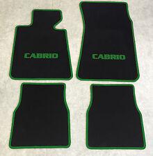 Autoteppiche Fußmatten für BMW E30 / 3er Cabrio schwarz-grün Neuware 4teilig