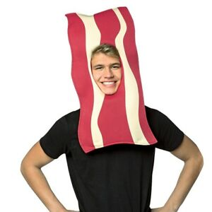 Chris P. Bacon Headpiece Mask Novelty Funny Halloween Costume One Size #6922