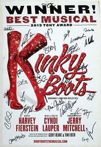 KINKY BOOTS Winter 2017 Broadway Cast Billy Porter, Stark Sands Signed Poster