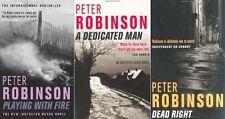 Peter Robinson __ 3 LIBRO SET__ SUONA With Fire DEAD RIGHT Incaricato __ NUOVO
