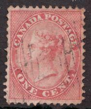 #14 - Canada - 1859 - 1 Cent Queen Victoria - Used - VF  - superfleas cv$120