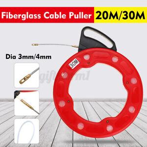 30m 0.4mm Fiberglas Einziehband Einziehhilfe Einziehdraht Einziehspirale Kabel