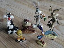 Figurines Looney Tunes en résine. Gros Minet Titi Coyote Bip-Bip Taz lot de 5