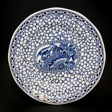 2 Adams Chinese Bird Blue Bread Plate Dish And one Chinese Trinket Dish Set of 3