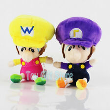 "2pcs Wario Waluigi Baby 5.5"" Super Mario Bros. Plush Doll Stuffed Toy"