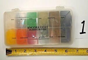 ANGORA GOAT Blended Fur Dubbing Fly Tying Dispenser 12 colors  #1