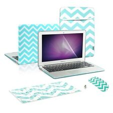 """Matte Chevron Hot Blue Case+Keyboard Cover+ LCD+ Bag+ Mouse for Macbook Air 13"""""""