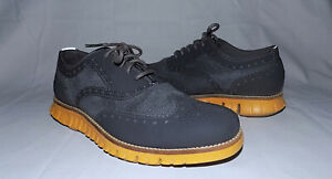COLE HAAN Zerogrand Textile tops Wingtips-Size 7M-Gray/Yellow-Great condition !!